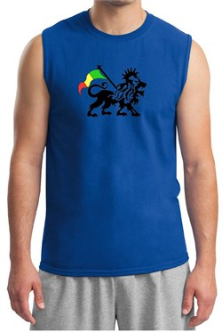 Rasta Lion Muscle Shirt