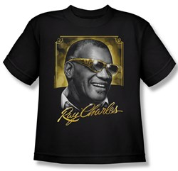 Ray Charles Kids Shirt Golden Glasses Black Youth Tee T-Shirt