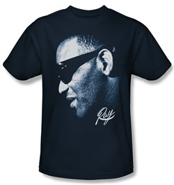 Ray Charles Shirt Blue Ray Adult Navy Tee T-Shirt