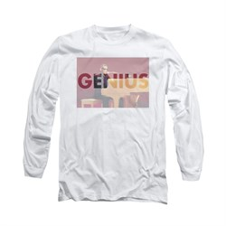 Ray Charles Shirt Genius Knockout Long Sleeve White Tee T-Shirt