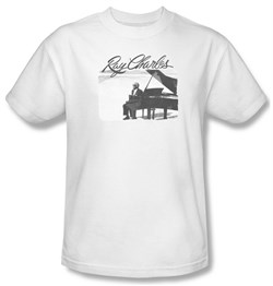 Image of Ray Charles Shirt Sunny Ray Adult White Tee T-Shirt