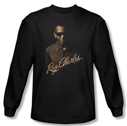 Ray Charles Shirt The Deep Long Sleeve Black Tee T-Shirt