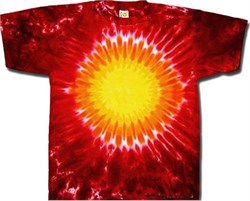 Image of Tie Dye T-shirt - Red Hot Sun Adult Tee