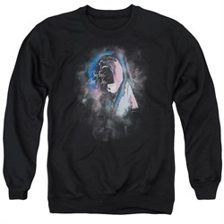 Image of Roger Waters Sweatshirt The Wall Face Paint Adult Black Sweat Shirt