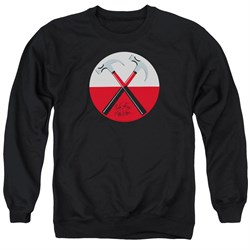 Image of Roger Waters Sweatshirt The Wall Hammers Adult Black Sweat Shirt