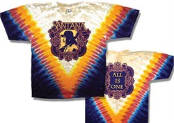 Image of Santana T-shirt - All Is One Classic Rock Tie Dye Tee