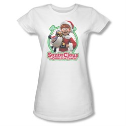 Image of Santa Clause Shirt Juniors Penguin Pal White T-Shirt
