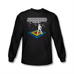 Saturday Night Fever Shirt Should Be Dancing Long Sleeve Black Tee T-Shirt