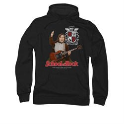 School Of Rock Hoodie Sweatshirt The Teacher Is In Black Adult Hoody Sweat Shirt