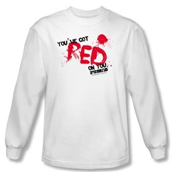 T-Shirt | Sleeve | Adult | Shirt | White | Dead | Long | You | Tee | Red
