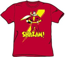 Image of Shazam T-shirt - DC Comics Superhero Adult Tee
