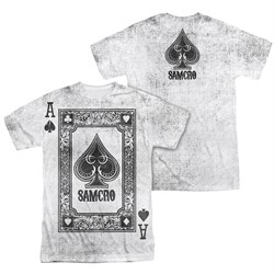 Image of Sons Of Anarchy SOA Ace Of Spades Sublimation Shirt Front/Back Print