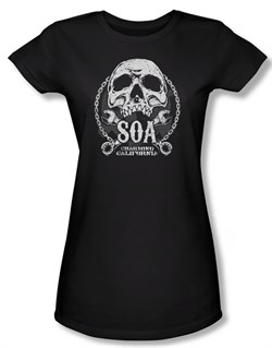 Sons Of Anarchy Shirt Juniors Soa Club Black Tee T-Shirt
