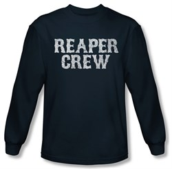 Sons Of Anarchy Shirt Reaper Crew Long Sleeve Navy Tee T-Shirt