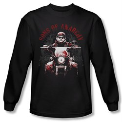 Image of Sons Of Anarchy Shirt Ride On Long Sleeve Black Tee T-Shirt