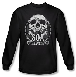 Sons Of Anarchy Shirt Soa Club Long Sleeve Black Tee T-Shirt