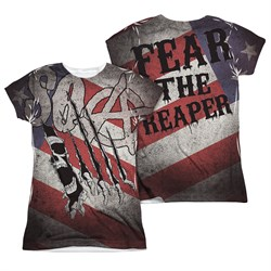 Sons Of Anarchy United Sons Of America Sublimation Juniors Shirt Front/Back Print