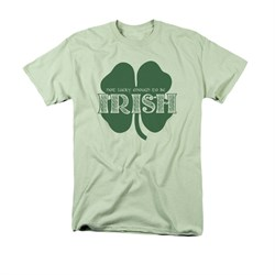 St. Patrick's Day Shirt Lucky To Be Irish Adult Wasabi Tee T-Shirt