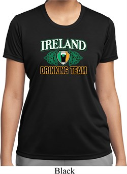 Image of St Patrick's Day Ireland Drinking Team Ladies Moisture Wicking Shirt