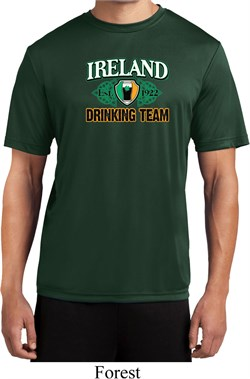 Image of St Patrick's Day Ireland Drinking Team Mens Moisture Wicking Shirt