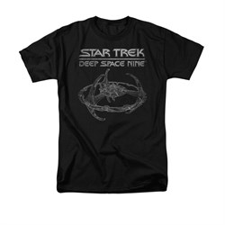 Image of Star Trek - Deep Space Nine Shirt DS9 Station Adult Black Tee T-Shirt