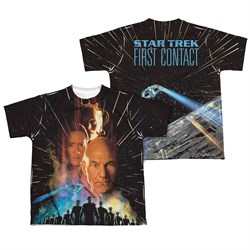 Image of Star Trek - Movies Fist Contact Poster Sublimation Kids Shirt Front/Back Print