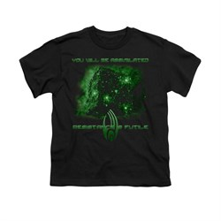 Image of Star Trek - The Next Generation Shirt Kids Assimilate Black Youth Tee T-Shirt