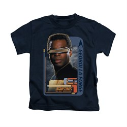 Star Trek - The Next Generation Shirt Kids Geordi Laforge Navy Youth Tee T-Shirt