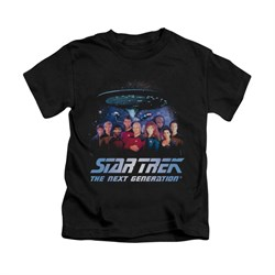 Star Trek - The Next Generation Shirt Kids Space Group Black Youth Tee T-Shirt