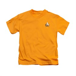 Image of Star Trek - The Next Generation Shirt Kids TNG Engineering Emblem Gold Youth Tee T-Shirt
