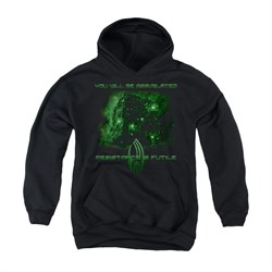Image of Star Trek - The Next Generation Youth Hoodie Assimilate Black Kids Hoody