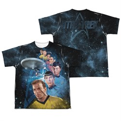 Image of Star Trek - The Original Series Among The Stars Sublimation Kids Shirt Front/Back Print