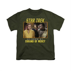Image of Star Trek - The Original Series Shirt Kids Episode 27 Military Green Youth Tee T-Shirt