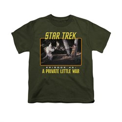 Image of Star Trek - The Original Series Shirt Kids Episode 45 Military Green Youth Tee T-Shirt