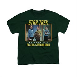 Image of Star Trek - The Original Series Shirt Kids Episode 67 Hunter Green Youth Tee T-Shirt