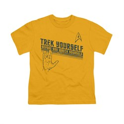 Image of Star Trek Shirt Kids Trek Yourself Gold T-Shirt