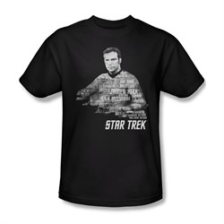 Star Trek Shirt Kirk Words Black T-Shirt