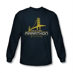 Star Trek Shirt Marathon Long Sleeve Navy Tee T-Shirt
