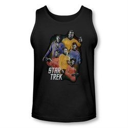 Image of Star Trek Shirt Tank Top Galaxy Glow Black Tanktop