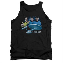 Image of Star Trek Shirt Tank Top The Main Three Black Tanktop