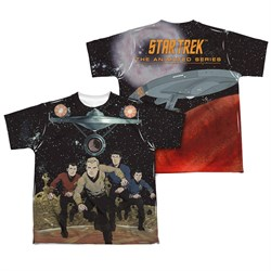 Image of Star Trek Shirts - The Original Series Running Sublimation Kids Shirt Front/Back Print