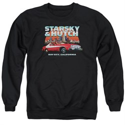 Image of Starsky And Hutch Sweatshirt Bay City Adult Black Sweat Shirt