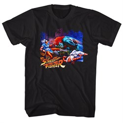Image of Street Fighter Shirt Alley Fight Black T-Shirt