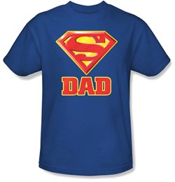 Dad T-shirt - Super Dad Superman Logo Father Adult Tee