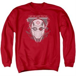 Image of Suicide Squad Sweatshirt The Way Adult Red Sweat Shirt