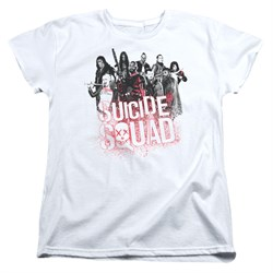 Image of Suicide Squad Womens Shirt Splatter White T-Shirt