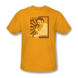 Elvis T-shirt - Sun Records - Elvis On The Mic - Gold