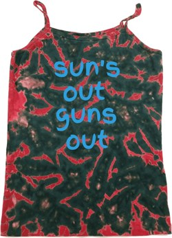 Suns Out Guns Out Ladies Tie Dye Camisole Tank Top