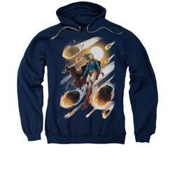 Supergirl Hoodie Sweatshirt #1 Navy Blue Adult Hoody Sweat Shirt