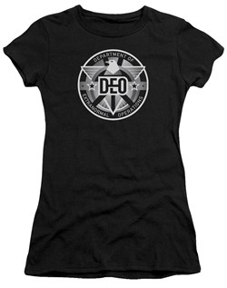 Supergirl Juniors Shirt DEO Symbol Black T-Shirt